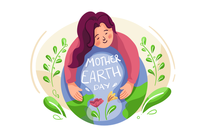 Mother Earth Day Illustration