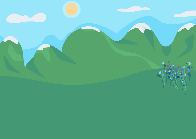 Mountain clearing Illustration
