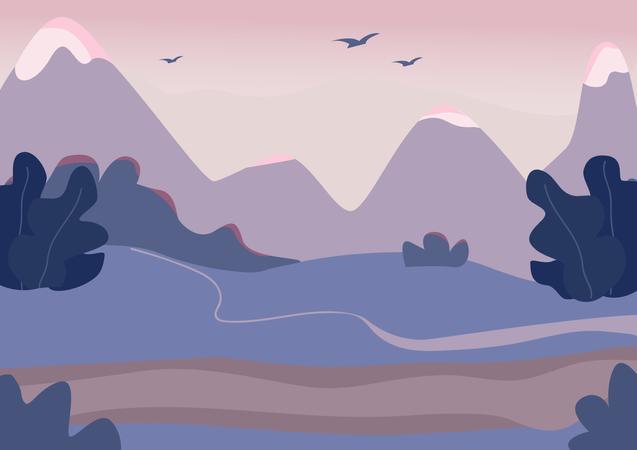 Mountain terrain Illustration
