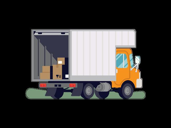Movers truck Illustration