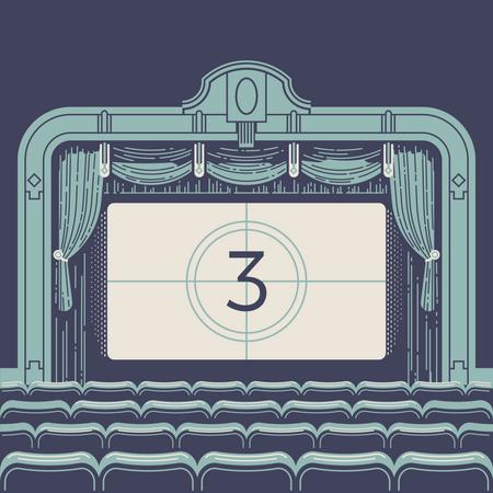 Movie countdown Illustration