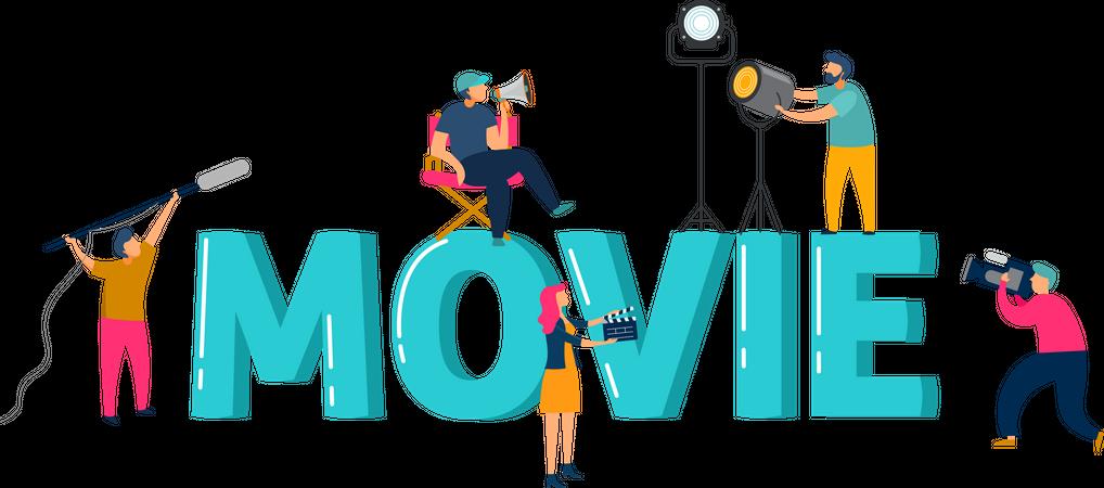 Movie creation Illustration