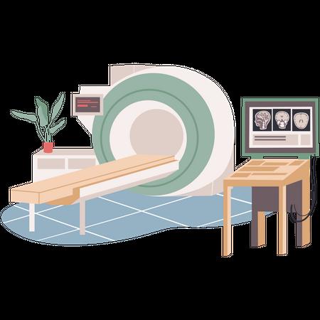 MRI room Illustration