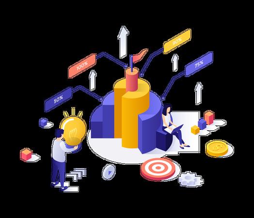 Multi-data processing idea Illustration