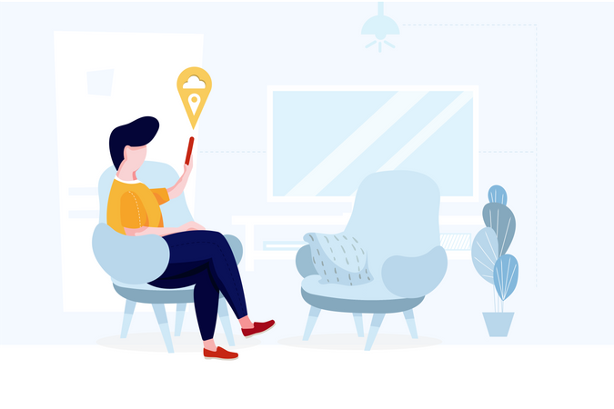 Multi purpose connection of smart house Illustration