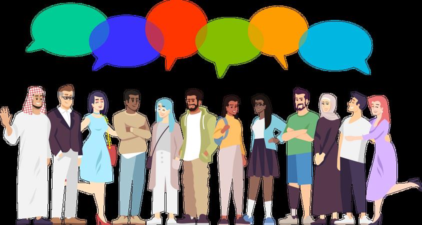 Multicultural diversity Illustration