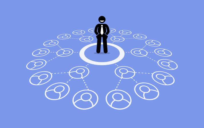 Multilevel marketing MLM Illustration