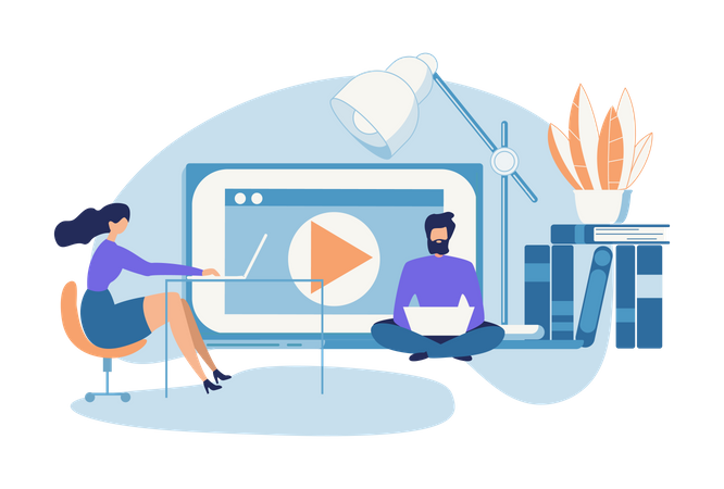 Multimedia and video Maker Illustration