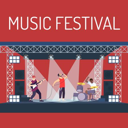 Music festival poster Illustration