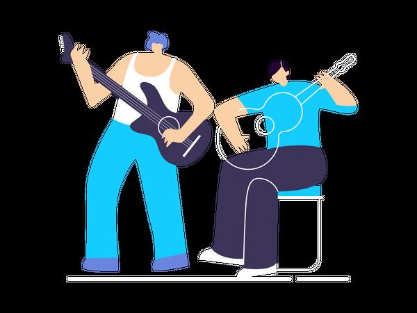 Musical band Illustration