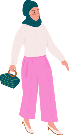 Muslim lady Illustration