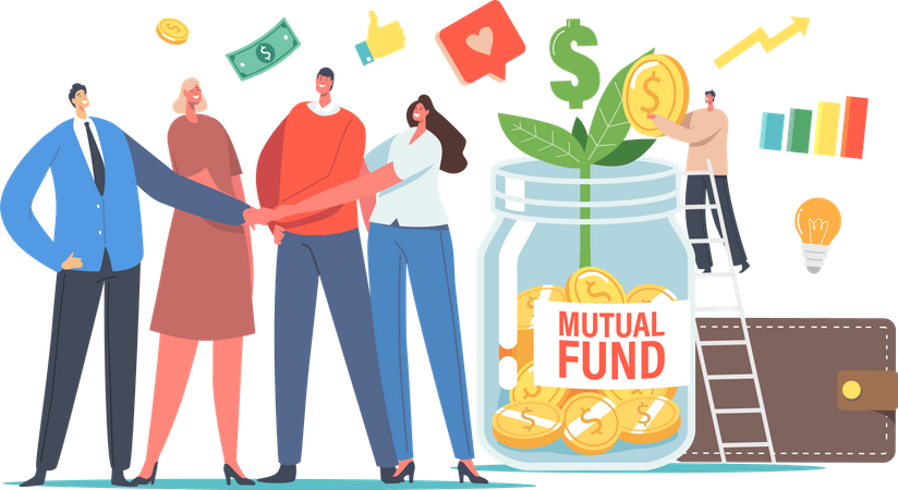 Mutual fund investment Illustration