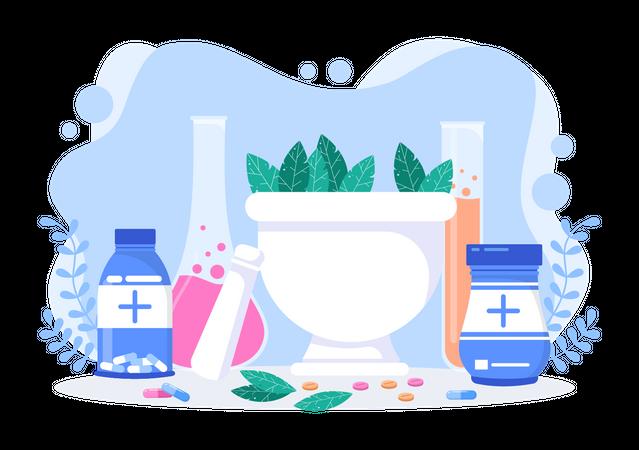 Natural Herbs Illustration