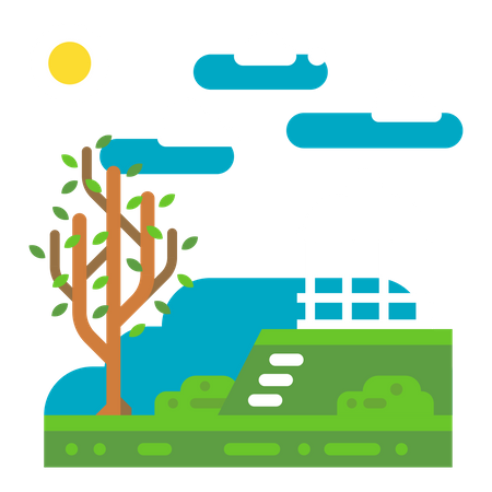 Natural scene Illustration