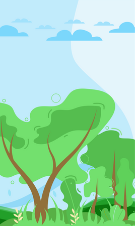 Nature Background or wallpaper Illustration