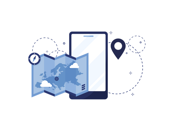 Navigation app Illustration