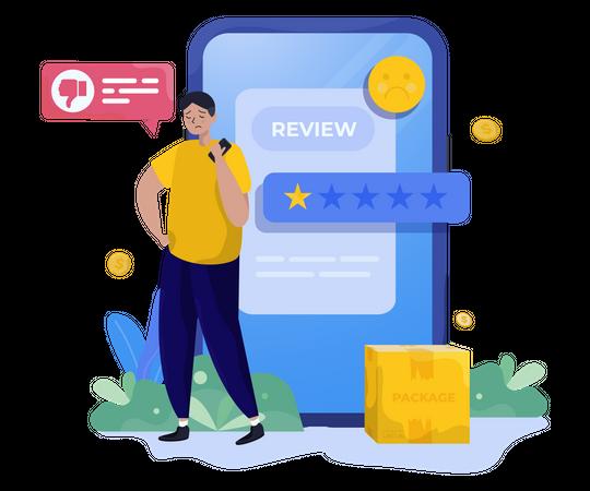 Negative review Illustration