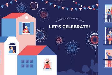 Celebration During Lockdown Illustration Pack