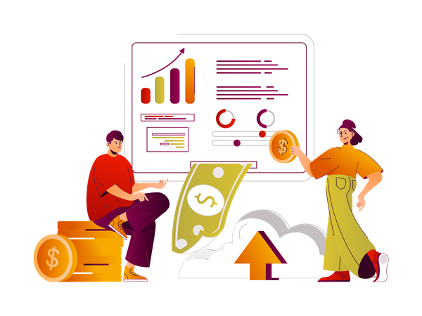 Net banking Illustration