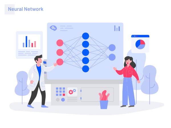 Neural Network Illustration Concept Illustration