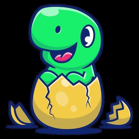 New born dinosaurs Illustration