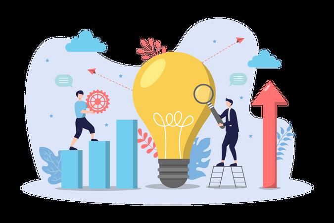 New business idea Illustration