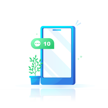 New messages Illustration