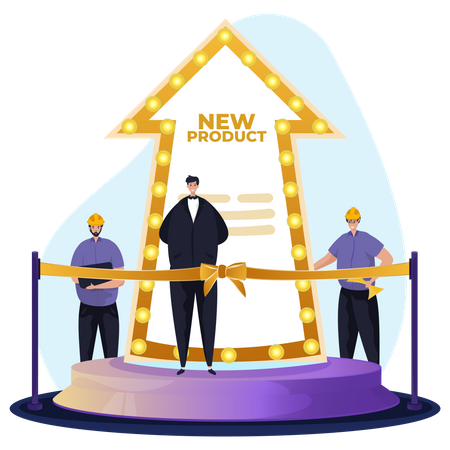 New product launching ceremony Illustration