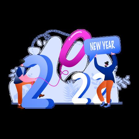 New Year 2022 Illustration
