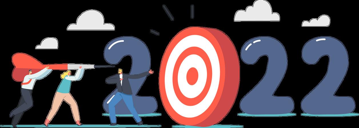 New Year Business Goal Illustration