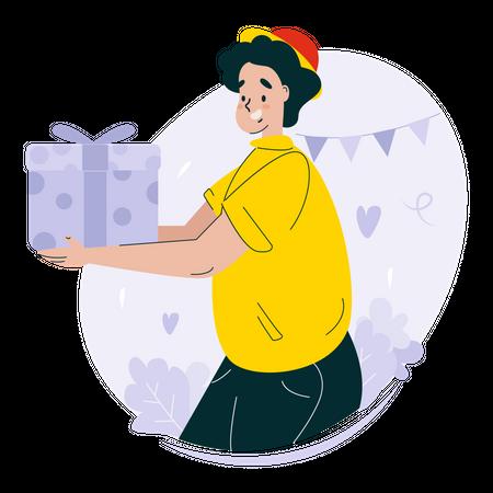 New year gift Illustration