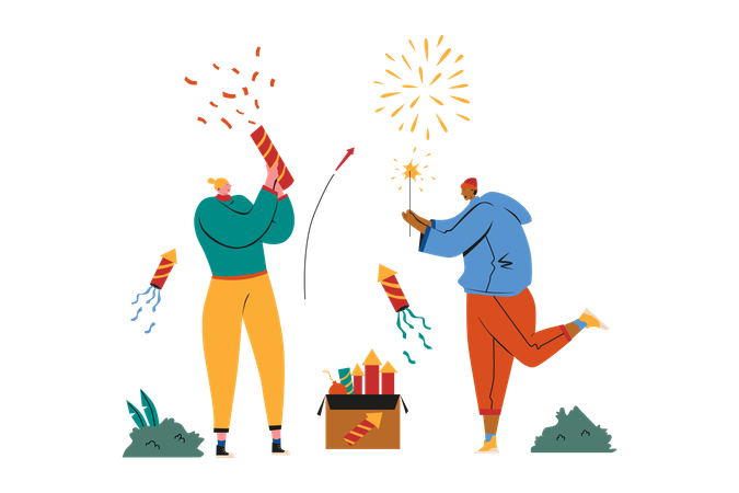 New Year Party Illustration