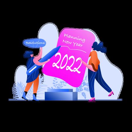 New Year Planning Illustration