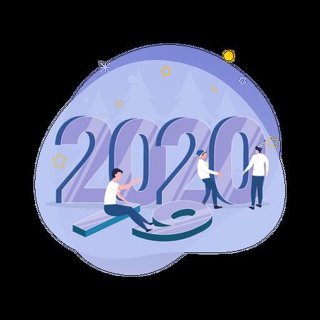 New year preparation Illustration