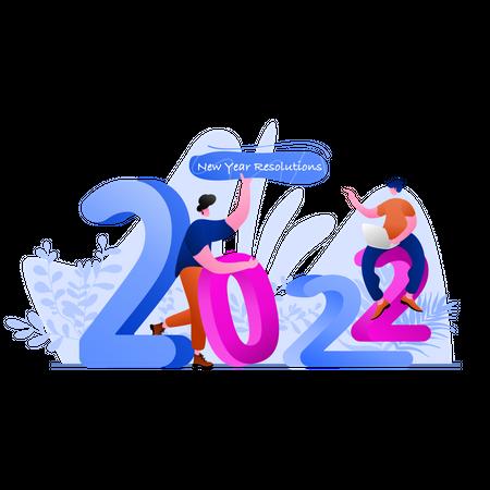 New Year Resolution Illustration
