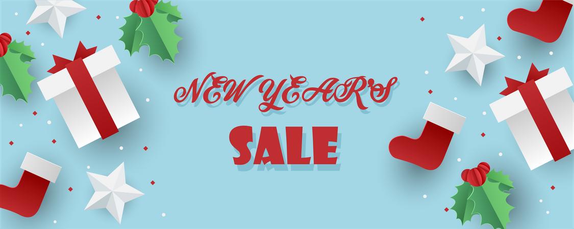 New year sale Illustration