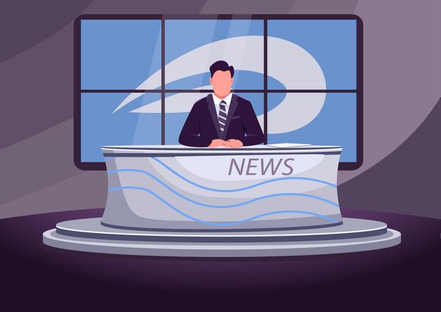 News broadcast Illustration