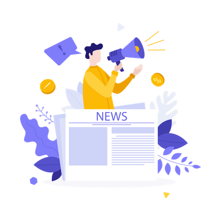 News broadcasting Illustration
