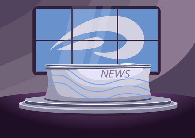 News studio Illustration