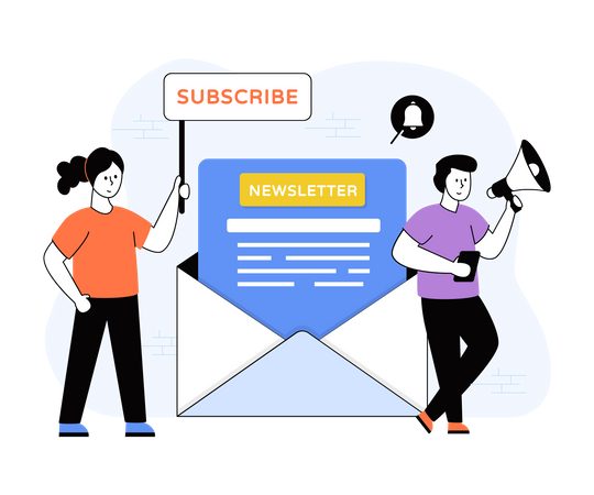 Newsletter Subscription Illustration