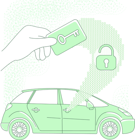 NFC car security Illustration