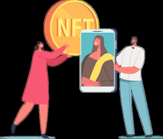 NFT Coin Illustration