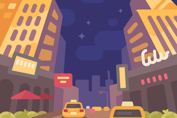 City Street Illustrations Illustration Pack
