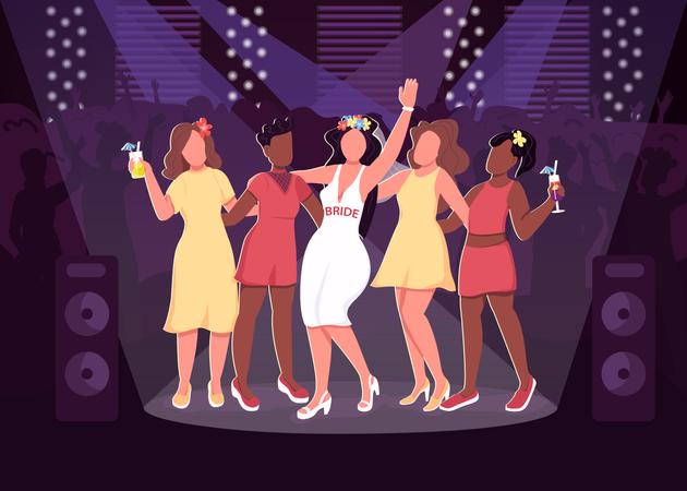 Nightclub party Illustration