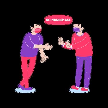 No handshake Illustration