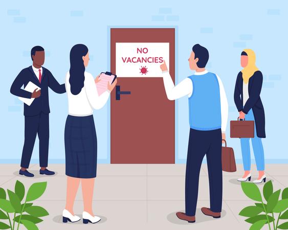 No vacancies Illustration