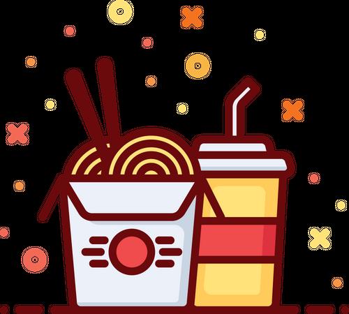 Noodles Illustration