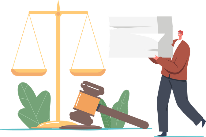 Notary And Legal Documents Illustration