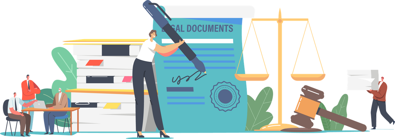 Notary Professional Service Illustration