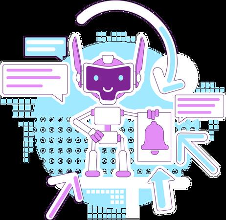 Notification bot Illustration